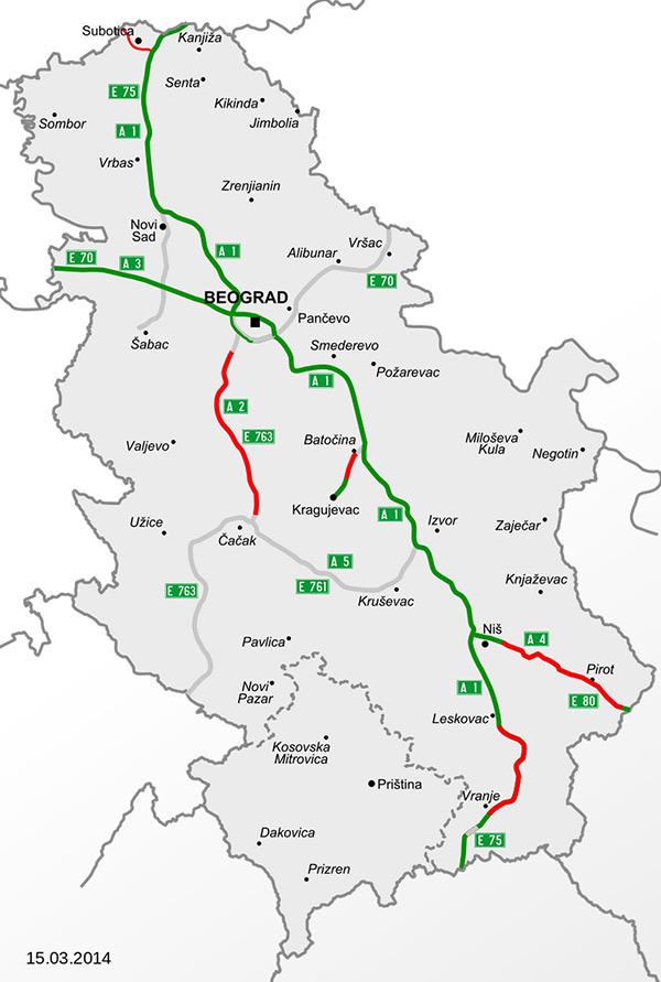 Serbia Taxe Autostrada Si Puncte De Taxare Vacanța Ta In Croația